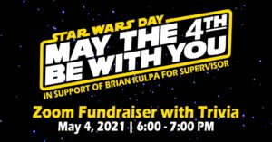 Amherst Supervisor Brian Kulpa's Star Wars Day Fundraiser and Trivia Contest @ Zoom