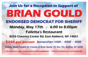 Reception in support of Friends of Brian Gould for Sheriff! @ Falletta's Restaurant