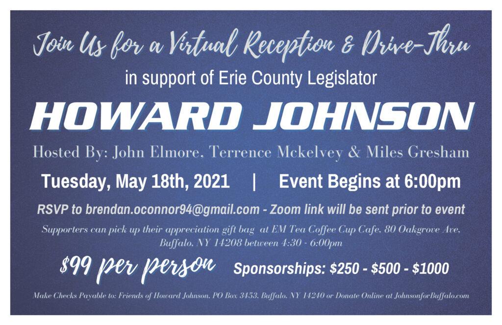 Virtual Reception & Drive-Thru in support of Legislator Howard Johnson