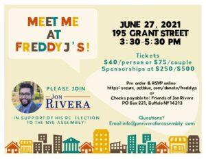 Meet Jon Rivera at Freddy J's! @ Freddy J's