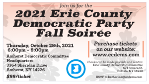 ECDC Annual Fall Soiree! @ Amherst Democratic Committee HQ