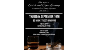 Scotch and Cigar Evening in Support of Legislator John Gilmour